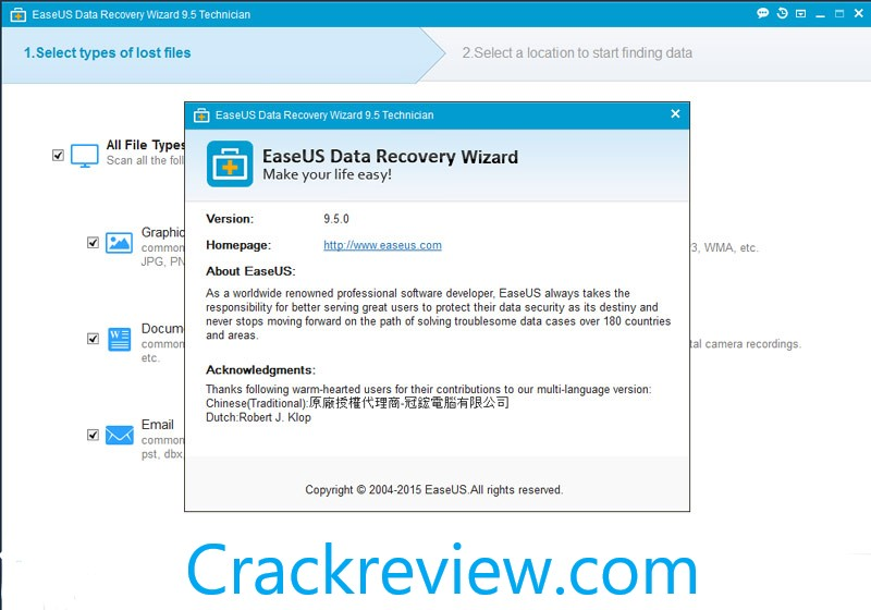 Easeus Data Recovery Wizard 13.3 Crack + License Code Free 2020