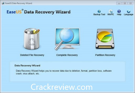 EaseUS Data Recovery Wizard 12.6 Crack + License Code Free Download