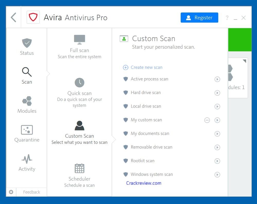Avira Antivirus Pro Crack 15.0.2007.1910 With Registration Key 2020