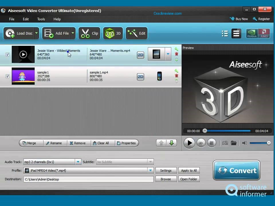 Aiseesoft Video Converter Ultimate 10.0.12 Crack + Serial Key Full Download