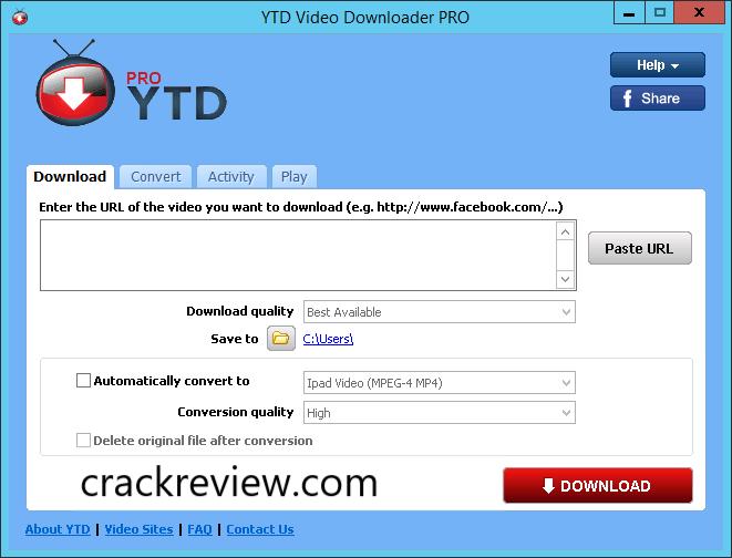 YTD Video Downloader Pro 6.15.8 Crack + Keys Full Download {Latest}